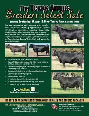 Breeders' Select Female Sale